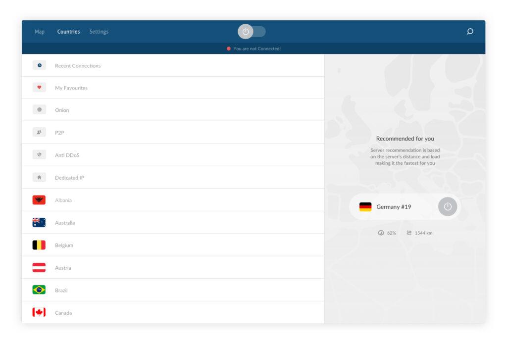 NordVPN desktop app